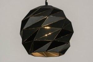 hanglamp 12958 modern metaal zwart mat rond