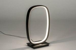 tafellamp 12981 modern metaal zwart mat
