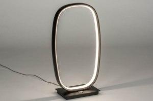 tafellamp 12982 modern metaal zwart mat