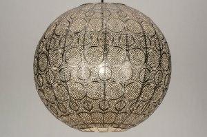hanglamp 12984 modern metaal nikkel zilvergrijs rond