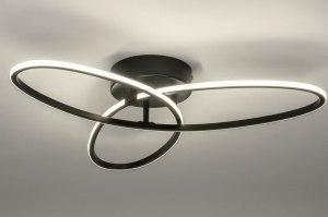plafondlamp 12988 modern metaal zwart mat