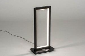 tafellamp 12990 modern metaal zwart mat rechthoekig