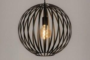 hanglamp 12999 modern metaal zwart mat rond