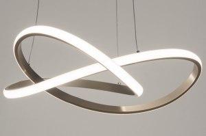 hanglamp 13030 design modern staal rvs metaal staalgrijs rond