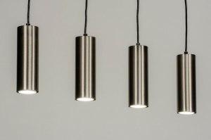 hanglamp 13033 modern staal rvs metaal staalgrijs rond langwerpig