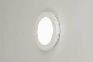 plafondlamp 13089 modern kunststof wit rond