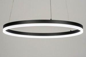 hanglamp 13097 modern aluminium metaal zwart mat rond