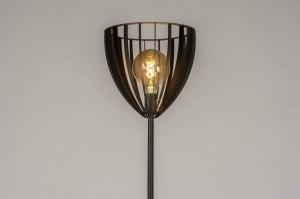 vloerlamp 13123 industrie look modern metaal zwart mat