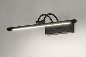 wandlamp 13150 modern metaal zwart mat langwerpig