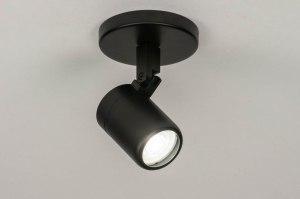 plafondlamp 13158 modern metaal zwart mat rond