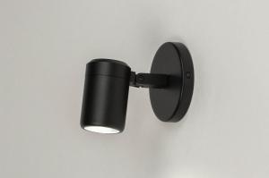 spot 13158 modern metaal zwart mat rond