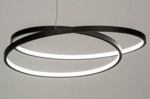 hanglamp 13191 modern metaal zwart mat rond