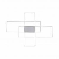plafondlamp 13196 design modern staal rvs metaal staalgrijs vierkant rechthoekig