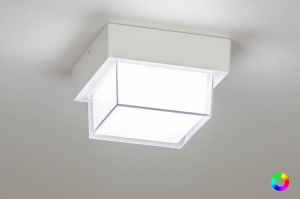 plafondlamp 13198 eindereeks modern aluminium kunststof wit mat vierkant
