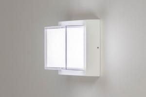 plafondlamp 13198 modern aluminium kunststof wit mat vierkant