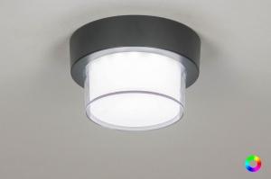 plafondlamp 13199 modern aluminium kunststof antraciet donkergrijs rond