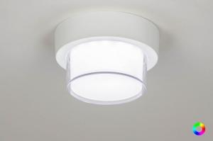 plafondlamp 13210 eindereeks modern aluminium kunststof wit mat rond