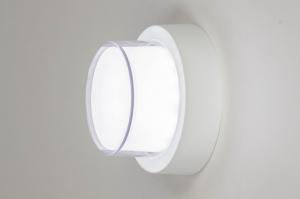 plafondlamp 13210 modern aluminium kunststof wit mat rond