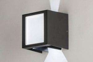 wandlamp 13233 design modern aluminium antraciet vierkant langwerpig