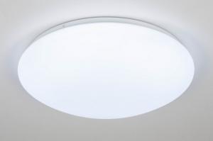 plafondlamp 13249 modern kunststof wit mat rond