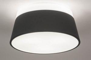 plafondlamp 13252 modern kunststof metaal wit antraciet donkergrijs rond