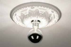 plafondlamp 13254 modern klassiek eigentijds klassiek keramiek wit mat rond