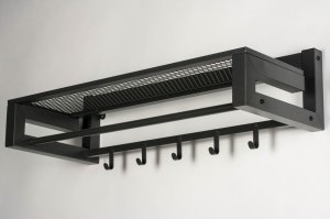 Garderobe 13302 Industrielook modern coole Lampen grob Metall anthrazit laenglich rechteckig