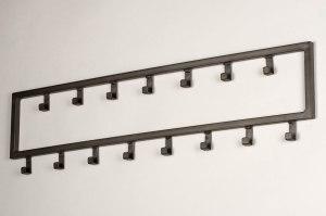 kapstok 13376 industrie look landelijk rustiek modern metaal grijs zilver  oud zilver oldmetal (gunmetal) langwerpig rechthoekig