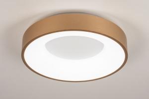 plafondlamp 13447 modern kunststof metaal wit goud rond