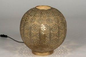 tafellamp 13462 modern eigentijds klassiek metaal goud rond