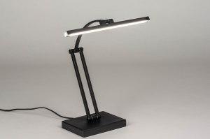 tafellamp 13468 design modern metaal zwart mat rechthoekig