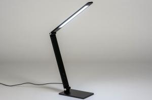 tafellamp 13529 design modern aluminium metaal zwart mat langwerpig rechthoekig