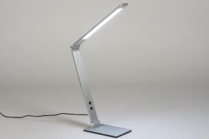 tafellamp 13530 design modern aluminium geschuurd aluminium metaal aluminium langwerpig rechthoekig