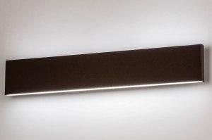 wandlamp 13599 design modern aluminium metaal bruin rechthoekig