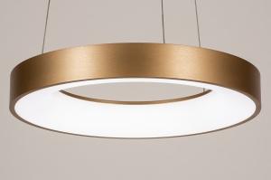 hanglamp 13606 design modern kunststof metaal wit mat goud rond