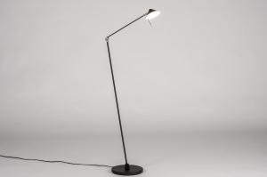 vloerlamp 13621 design modern staal rvs metaal zwart mat staalgrijs rond