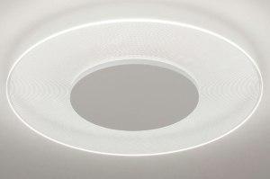 plafondlamp 13628 design modern kunststof wit mat rond