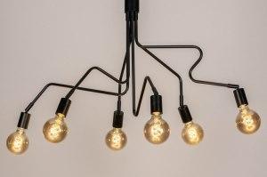 hanglamp 13660 industrie look modern retro metaal zwart mat