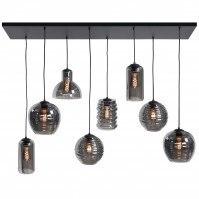 hanglamp 13662 modern eigentijds klassiek glas metaal zwart mat