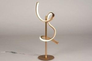 tafellamp 13675 modern eigentijds klassiek messing metaal goud messing rond