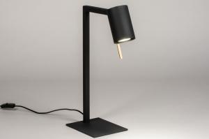 tafellamp 13777 industrie look modern messing geschuurd metaal zwart mat messing rond vierkant rechthoekig