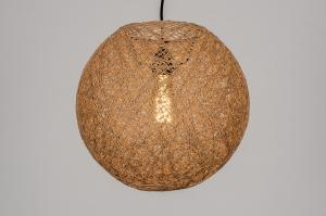 hanglamp 13842 landelijk rustiek modern retro naturel rond