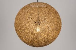 Pendelleuchte 13844 laendlich rustikal modern Retro Naturfarbe rund