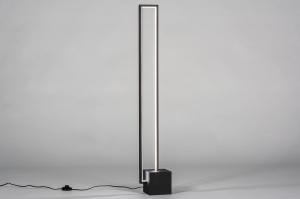 vloerlamp 13850 design modern metaal zwart mat vierkant rechthoekig