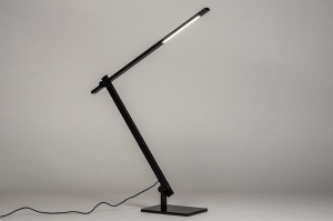 tafellamp 13867 design modern aluminium metaal zwart mat langwerpig rechthoekig