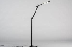 vloerlamp 13869 design modern stoer raw metaal zwart mat