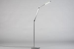 vloerlamp 13870 design modern stoer raw metaal aluminium