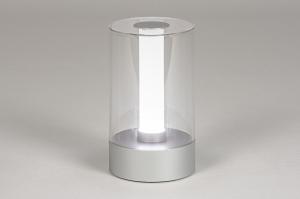 tafellamp 13881 modern kunststof acrylaat kunststofglas metaal aluminium rond