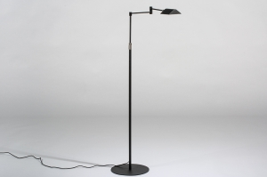 vloerlamp 13890 modern metaal zwart mat