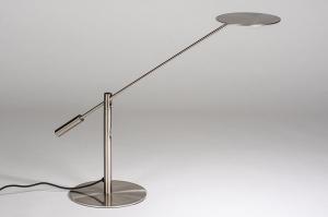 tafellamp 13891 design modern metaal staalgrijs